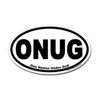 one nation under god onug oval sticker $ 4 49
