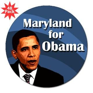 Maryland for Obama Lapel Stickers (48 pk)