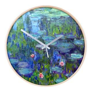 Monet   Water Lilies Wall Clock for $54.50