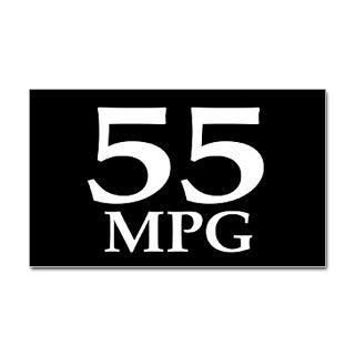 55 mpg (gas mileage bumper sticker)  Earthophilia  Irregular
