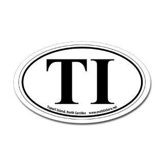 topsail island north carolina ti oval car sticker $ 4 49