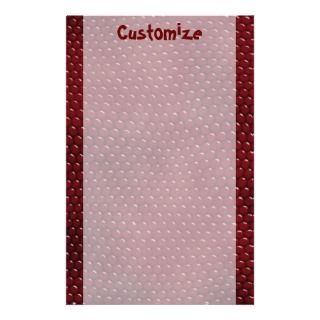 Royal Red Lizard Skin Scales Stationery