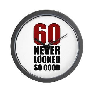 60 Never Looked So Good Wall Clock for $18.00