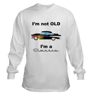 classic 57 chevy hot rod Long Sleeve T Shirt