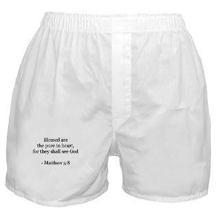 Bible Gifts  Bible Underwear & Panties  Matthew 58 Boxer Shorts