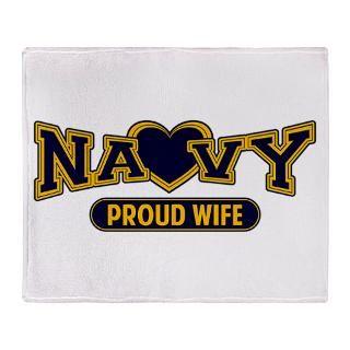Navy Wife Stadium Blanket for $59.50