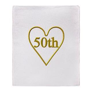 50th Wedding Anniversary Stadium Blanket for $59.50