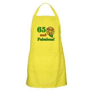 65Th Birthday Aprons  Custom 65Th Birthday Aprons