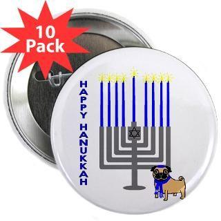 Happy Hanukkah 2.25 Button (10 pack)