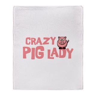 Pig Fleece Blankets  Pig Throw Blankets