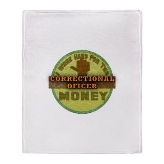 Correctional Officer Fleece Blankets  Correctional Officer Throw