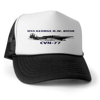 USS GEORGE H.W. BUSH GIFT SHOP  CVN 77 HATS,CAPS,T SHIRTS & APPAREL