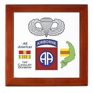 Vietnam Jump Wings   Unit Patches on Keepsake Boxe  A2Z Graphics
