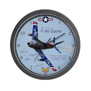 Air Force Gifts  Air Force Home Decor  F 86 Sabre Wall Clock