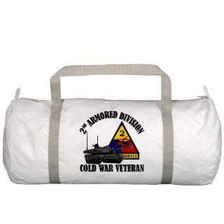 2nd AD Gym Bag  2nd Armored Division   Cold War  Military Vet