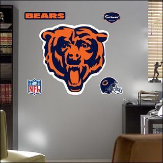 chicago bears logo fathead wall graphic $ 89 99