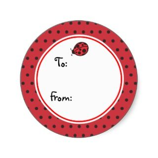 Ladybug Gift Tag Stickers