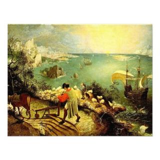 Bruegels Landscape with the Fall of Icarus   1558 Custom Invites