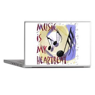 Art Gifts  Art Laptop Skins  Music is My Heartbeat Laptop Skins