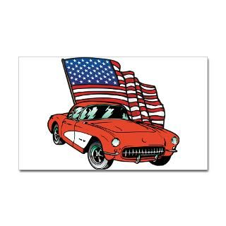 American Flag Car  Classic Hot Rod Muscle Car T shirts and Gifts
