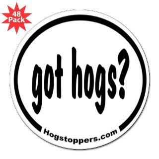 Wild hog bumper stickers, hats, shirts