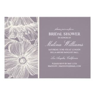 VINTAGE GARDEN  BRIDAL SHOWER INVITATION