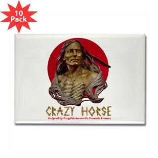 Crazy Horse Rectangle Magnet (10 pack)
