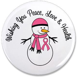 Christmas Snowman Breast Cancer Cards & Gifts  Gifts 4 Awareness