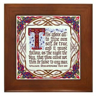 Shakespeare Framed Art Tiles  Buy Shakespeare Framed Tile