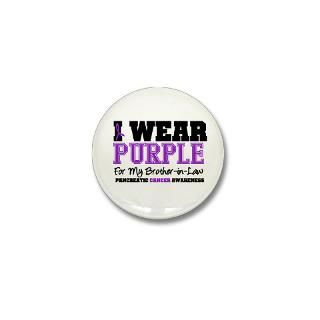 Pancreatic Cancer Purple Ribbon Button  Pancreatic Cancer Purple