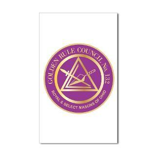 Golden Rule Council No. 132 Sticker (Rectangle)