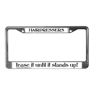 Hairdresser License Plate Frame  Buy Hairdresser Car License Plate