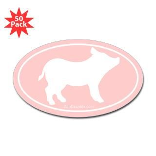 Pig Silhouette Euro Sticker (Pink/50pk) for $140.00