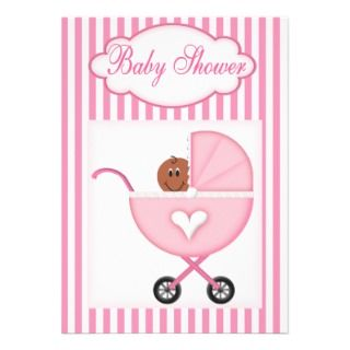 african american baby shower invitations for girls invitation has a