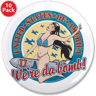 Patriotic Pinup Girl 3.5 Button (10 pack)