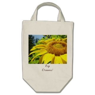 Big Dreams Beach Tote bag Duffle bags Sunflowers