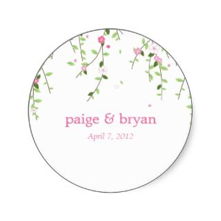 Garden Blooms Favor Sticker or Gift Tag Sticker