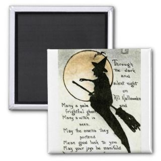 Halloween Witch / Witches Quote / Poem / Spell Fridge Magnets