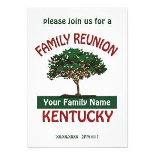 paulson on a kentucky family reunion invitation the invitation