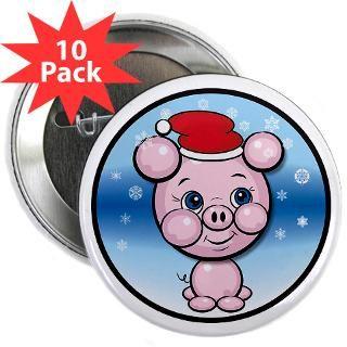 Santa Pig Snow Cartoon Christmas T shirts Gifts
