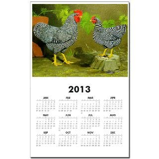 Barred Rock Rooster and Hen : Diane Jacky On Line Catalog