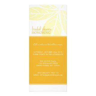 Long Modern Elegant Golden Glow Bridal Shower Custom Invites