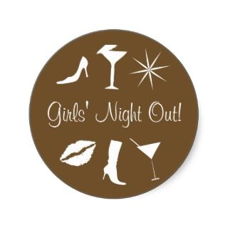 Girls Night Out! Envelope Sticker Seal