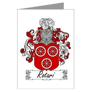 Rotari Family Crest Greeting Cards (Pk of 10)