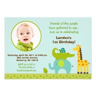 Safari Jungle Animal Birthday Invitations invitations by little_prints