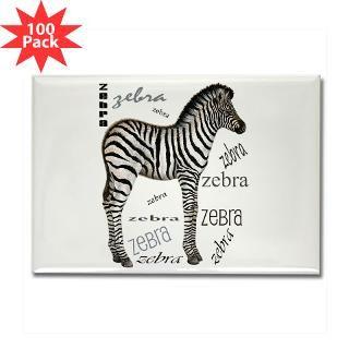 baby zebra rectangle magnet 100 pack $ 189 99