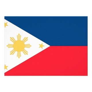 Philippines Flag Personalized Announcement