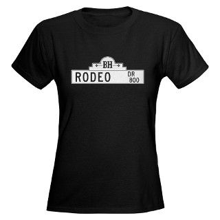 800 Gifts  800 T shirts  Rodeo Dr., Los Angeles   USA Womens Dark T