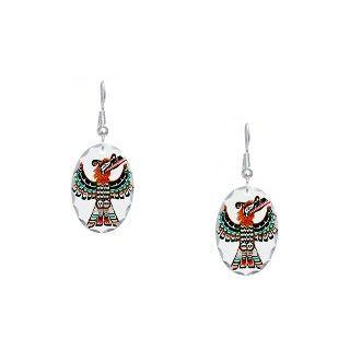 Bird Gifts  Bird Jewelry  Pacific Northwest Thunderbird Earring Oval