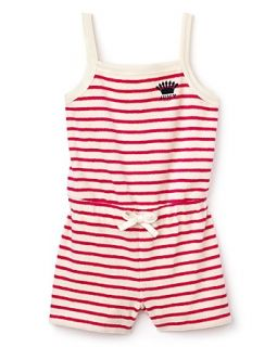 Juicy Couture Girls Sunshine Stripe Terry Romper   Sizes 2 6